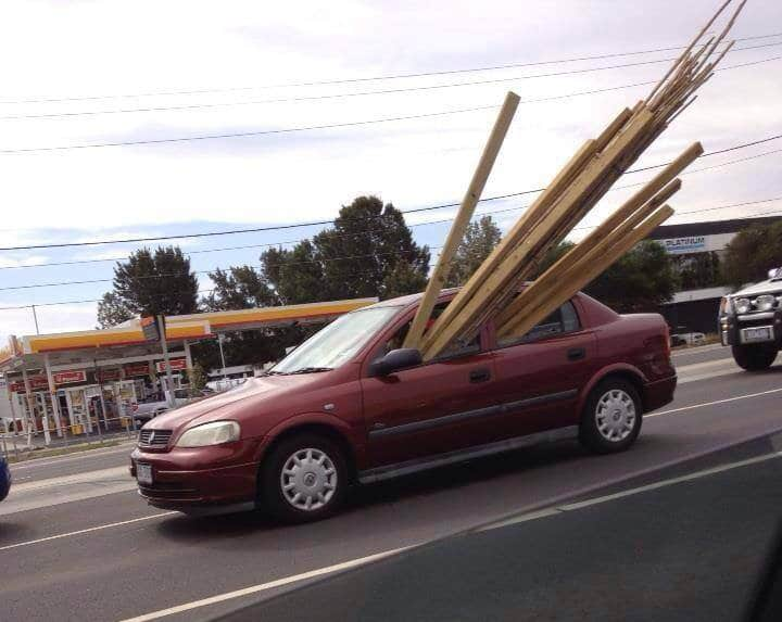 Astra loaded with timber