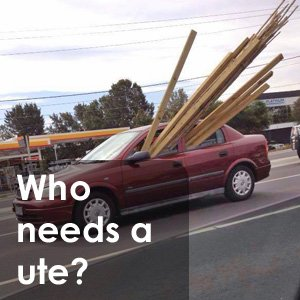 Who needs a ute?