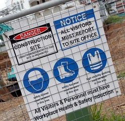 Worksite Safety Sign