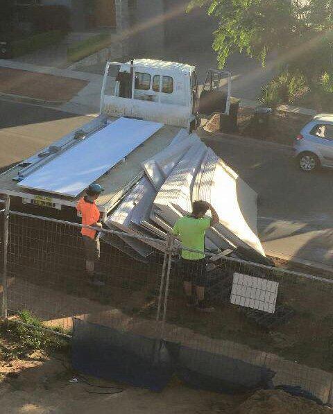 Plaster truck fail