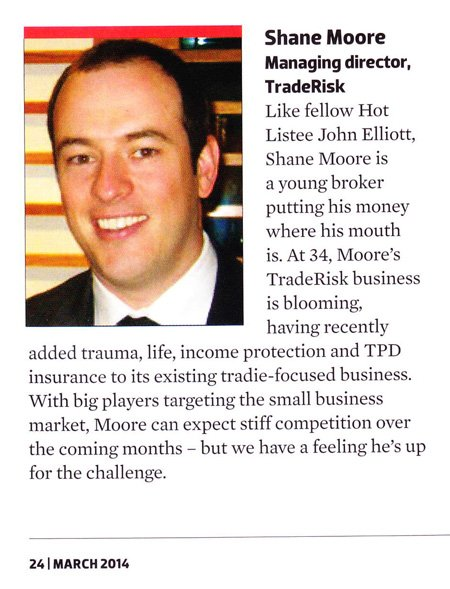 Insurance Hot List - Shane Moore