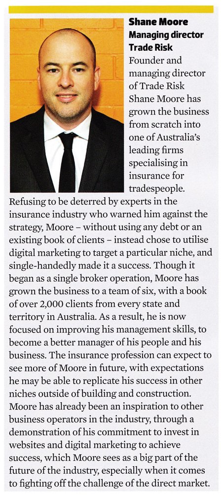 Insurance Young Guns - Shane Moore