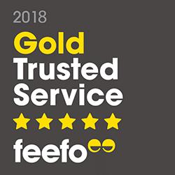 Feefo Gold Service Award 2018
