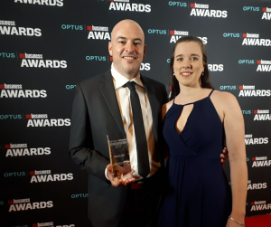 optus-business-award-shane-jessica