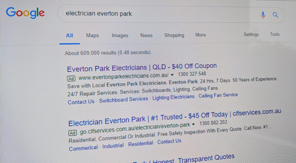 Electrician Google AdWords
