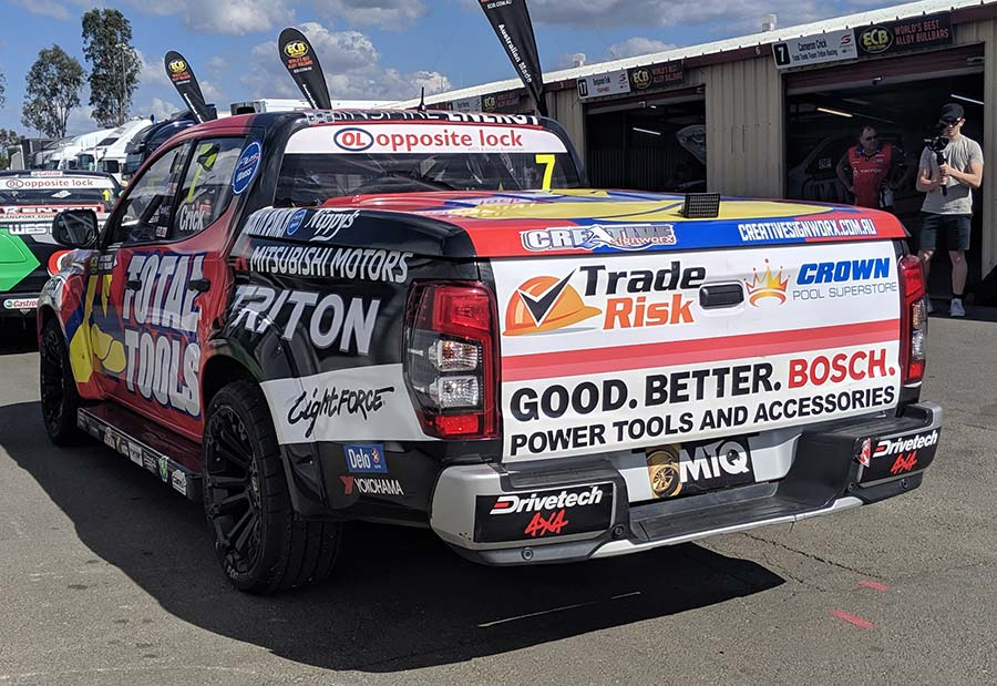 Tradie Brands on Race Car - Trade Risk